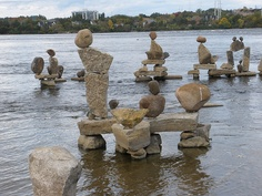 Ottawa River - Balanced stone sculptures ~ Photo by. Ottawa Canada, Ottawa Ontario, O Canada, Canada Travel, Montreal Canada, Alberta Canada, Rock Sculpture, Stone Sculptures, Monuments