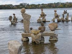 Inukshuks on the Ottawa River