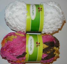 2 balls Fancy Pavia Ruffle Net style yarn mix lot by JuliaLCraft