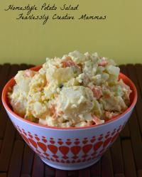 Homestyle Potato Salad on MyRecipeMagic.com Homestyle Potato Salad is a great addition to your summer meals and barbecues.