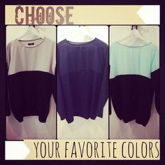 Choose your favorite colors