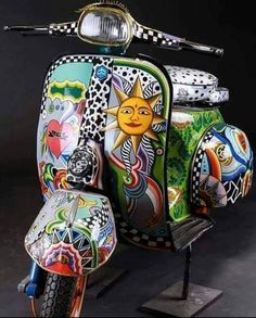 ● Vespa Girl, Scooter Girl, Lambretta Scooter, Vespa Scooters, Italian Scooter, Scooter Custom, Kids Bike, Custom Motorcycles, Tricycle