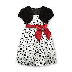 Holiday Editions- -Girl's Short-Sleeve Occasion Dress - Polka Dot