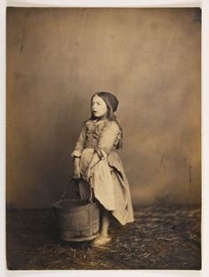 An early portrayal of Young Cosette at the Thenardiers' inn. Les Miserables publicity shoot, most likely.