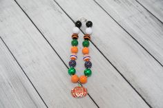 Pumpkin Princess Halloween Bubblegum Necklace/ Chunky Beaded Necklace/ Girls Costume Jewelry/ Kids Bling by Mandyssewingroom on Etsy