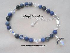 Archangel Michael bracelet with Swarovski  crystal angel www.reneewayne.weebly.com