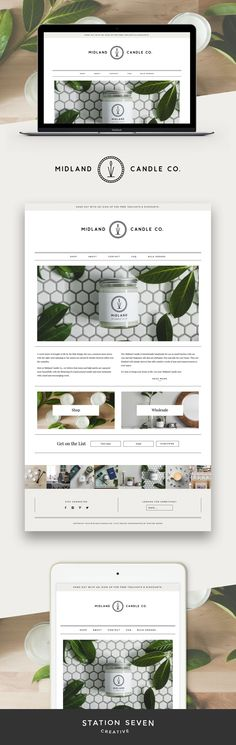 Fun and fresh site by Midland Candle Co running on Parker, Station Seven's WordPress theme.