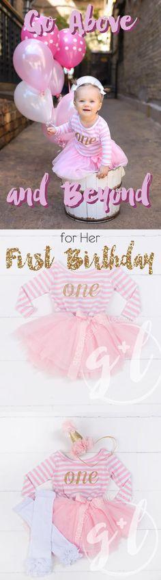 471990f3da35 1st Birthday Dress Gold Script