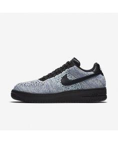 purchase cheap 1a4e1 b4a07 Nike Air Force 1 Flyknit Low Mens Glacier Blue White Deep Royal Blue Black  Shoe