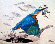Halász - jégmadár művészet - olajfestmény /  Fisherman  - art- oil painting /  Fischer - kunst - ölmalerei /  17-halasz.jpg (480×384)