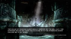 it was creepy but Molag Bal's voice was awesome