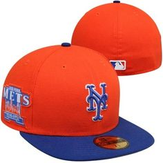 New York Mets New Era Patched Team Redux 59FIFTY Fitted Hat – Orange