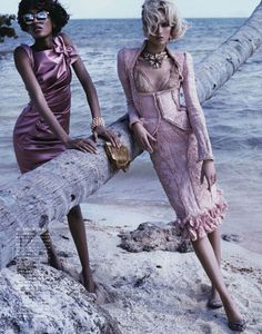 Swept Away   Jourdan Dunn & Daria Strokous   Josh Olins #photography   Vogue Japan ( Vogue Nippon ) April 2012