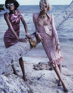 Swept Away | Jourdan Dunn & Daria Strokous | Josh Olins #photography | Vogue Japan ( Vogue Nippon ) April 2012