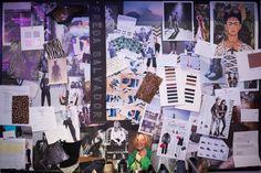 Inspiration board at San Francisco footwear company FREDA SALVADOR