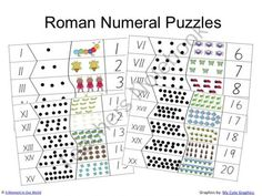 Teachers Notebook - free Roman numbers activity