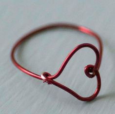 How To Make A Wire Heart Finger Ring  The perfect present on valentine's day =)