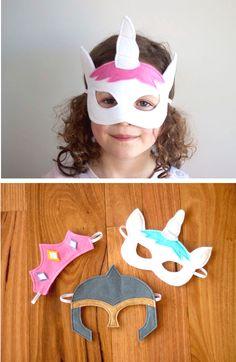 Fancy carnival masks - Sewing Pattern in English via Makerist.de