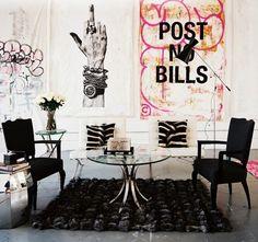 Chad Muska's house designed by Ryan Korban via mimiandmegblog