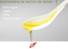 Categorias de aceite de olivo