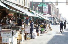 Italian Market in Philadelphia.