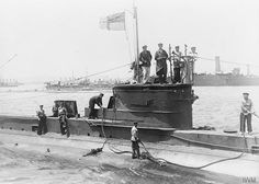 The HMS departing Mudros Harbor on her mission. She will serve in the theater under two different captains and sink in 1918 World War One, First World, Royal Navy Submarine, Gallipoli Campaign, Navy Ships, Battleship, Sailing Ships, Wwii, Australia