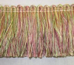 BF1480-20/14-PkGrYe Upholstery Trim, Going Out Of Business, Art For Sale, Pink And Green, Fabric, Etsy, Tejido, Tela, Cloths
