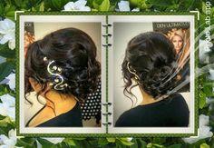 Frisur mit Haarschmuck, dieser ist auch bei uns im Salon erhältlich