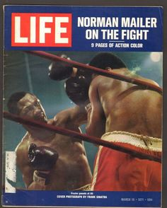 Life Magazine March 1971 : Cover - Boxer Joe Frazier pounds at Muhammad Ali. Basketball Funny, Basketball Pictures, Norman Mailer, Life Cover, Look Magazine, Kids Diet, Muhammad Ali, Vintage Magazines, Cover Photos