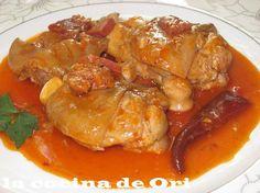 Manitas de cerdo en salsa alavesa