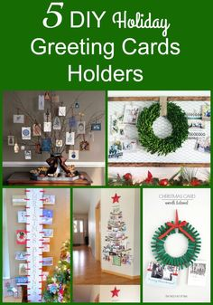 Holiday greeting cards are not a thing of the past! More and more people are sending out pictures and lots of other holiday treats! Have an organized spot in your house for them by using these holiday greeting cards decor ideas!