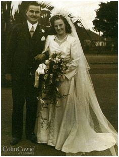 Colin Cowie's parents Cecil & Gloria on their #wedding day.