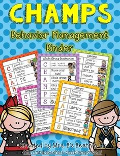 The CHAMPS Behavior Management Notebook Version is designed for easy communication between you and your students.  Each sign tells your students what activity they will be involved in and goes through the CHAMPS acronym to help them stay on track.C - Conversation - at what level should the students voices be at?H - Help - what do the students do if they need help?A - Activity - what activity will they be participating in?M - Movement - How may students move around the classroom during this…