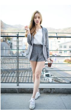 Best 8 Check out this Awesome latest korean fashion – Korea Fashion, Asian Fashion, Girl Fashion, Fashion Outfits, Womens Fashion, Fashion Trends, Summer Outfits, Casual Outfits, Cute Outfits