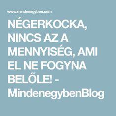 NÉGERKOCKA, NINCS AZ A MENNYISÉG, AMI EL NE FOGYNA BELŐLE! - MindenegybenBlog