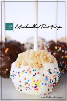 Marshmallow Treat Pops | Big Bang Bites | bigbangbites.com