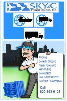 Get free quotes of shipping via air online and measure your freight rates online. Logon to www.sky2c.com