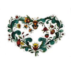 Rosemaling Heart Scandinavian Cards by Jana Johnson Schnoor