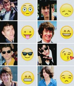Alex turner emoji edition omg I love the one with blowing a kiss <3