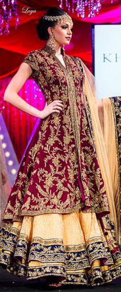 *✿.Bridal Lehenga.✿* Pakistani Bridal, Bridal Lehenga, Lehenga Choli, Punjabi Wedding, Sharara, Indian Fashion, High Fashion, Fashion East, Bridal Outfits