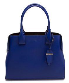 Another great find on #zulily! Blue Cape Calfskin Leather Satchel #zulilyfinds