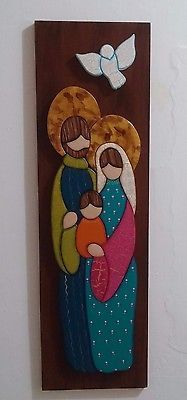 "24"" NATIVITY SET, Wooden, Hand made in Venezuela 