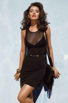 vestido sexy negro
