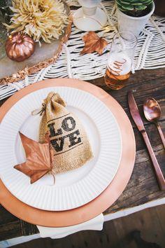 Thanksgiving Decor & Tablescape Inspo ~(coffee bean wedding favors)