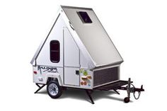 Aliner - The original A-frame travel trailer can be towed by a motorcycle!