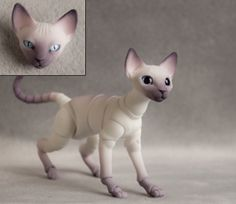 Ball jointed cat doll