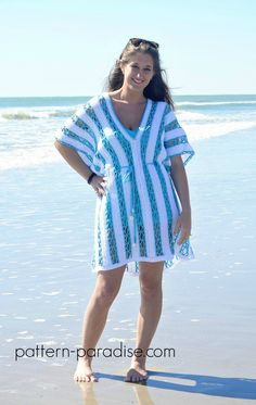 Beach Day Cover-Up Tunic By Maria Bittner - Free Crochet Pattern - (pattern-paradise)