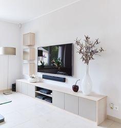 26 gorgeous coastal living room decor ideas 26 ⋆ All About Home Decor Ikea Living Room, Living Room Furniture, Living Room Decor With Tv, Living Room Remodel, Apartment Living, Living Room Tv Unit Designs, Tv Unit Decor, Home Design, Interior Design