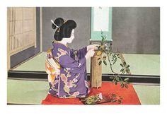 Geisha doing Ikebana, Photograph