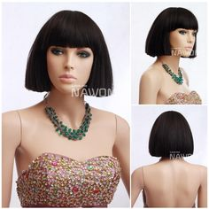 Women Black Hair Wigs Chinese Bob Wigs Synthtic Real Looking Wigs for Women Display Wigs Maker B3770, $31.69 | DHgate.com